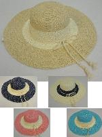 Ladies Large-Brim Fashion Hat [Two-Tone with Sequins]